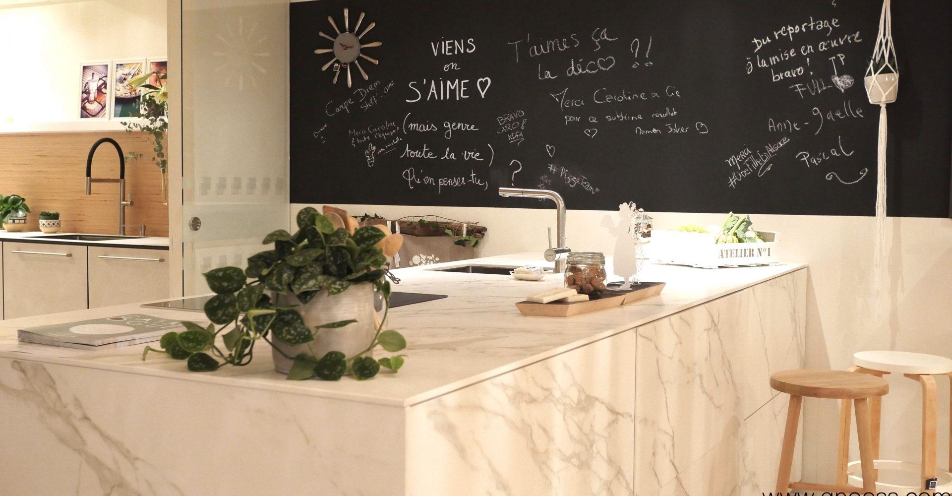 Relooker sa cuisine grâce à la peinture ardoise